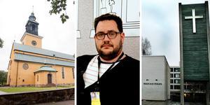 Kyrkoförsamlingarna i Gävle slås ihop, något kyrkorådets ordförande Robert Krantz tror blir en bra lösning.