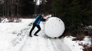 Vägen till och från Sven Nilssons hus i Gullhögen  är blockerad tack vare att en älg, eller två, rullat ut en ensilagebal mitt på hans väg.