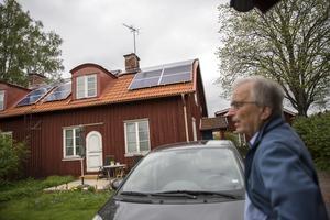 Hans Gunnar Jonsson öppnade sitt hem för den som är intresserad av solenergi.