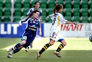 Liza Yngvesson startade karriären i Alnö IF, innan hon lämnade för att spela med Sundsvalls DFF.Foto: Nils Jakobsson