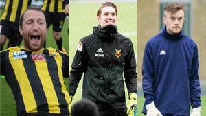 Toby Davis, Andrew Mills och Scott Coughlan – tre spelare som kommit genom LFE. Foto: Arkiv (Montage).