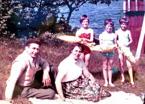 Innan mamma Inga-Märta Åströms bortgång fick familjen några fina år tillsammans. Bild: Privat