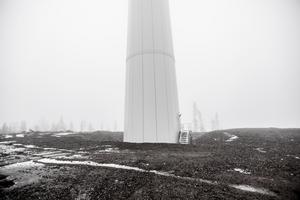 Mullbergs vindpark strax väster om Ånge kommun är en av flera vindkraftparker som finns i närområdet.