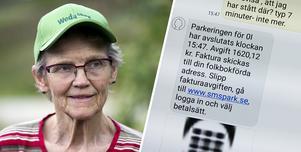 Fotomontage: Mikael Hellsten. Fick betala 1 620 kronor för sms-tabbe – nu har 80-åriga Birgitta fått pengarna tillbaka: