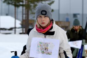Matilda Flordal laddar inför start. Foto: Petra Pavloska