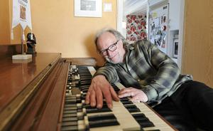 Hemma hos Pierre Swärd i Borlänge, Mr Hammondorgel. Foto: Martin Lindström