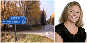 """""""Det finns många frågor att titta på när man bygger ett nytt bostadsområde i ett naturområde"""", säger Sofia Cedergren."""