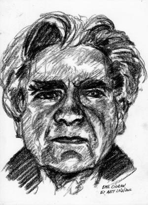 Porträtt av Emil Cioran av Arturo Espinosa.