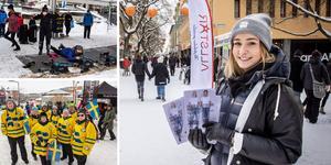 Östersund har laddat för vinterfest, Gregoriemarknad och skidskytte-VM. Och det märktes under lördagen i Lillänge också.