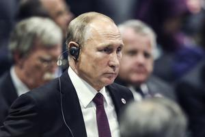 """Putin kallade  Sovjets sammanbrott för """"en av århundradets värsta geopolitiska katastrofer"""". Bild: TT"""