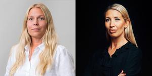 Från vänster: Hanna Jonasson, regionchef Företagarna Örebro län och Värmland och Lina Skandevall, expert på kvinnors företagande, Företagarna .