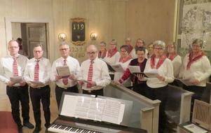 Medlemmar ur sång- och musikgruppen Ruijan Haarat i Finnmarken. Solisterna var Peter Jones, Holger Svedberg, Mats Ljunggren och Olle Jones. Foto: Walters Börje Edénius