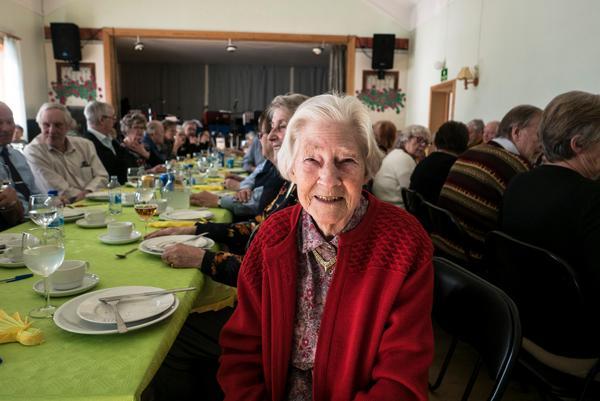 Ingeborg Stenvall från Sveg hade en trevlig jubileumsdag och såg fram emot trerättersmiddagen.