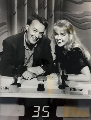 Ellinor Persson och Kalle Oldby i tv-programmet Lekande lätt 1994. Bild: Öiwind Berggren