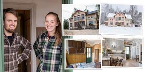Sanne Flink, 29, och Nikolai Meurman, 27, vill skala ner och säljer därför sitt renoverade ödehus.