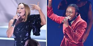 Charlotte Perrelli och Tusse gick direkt till final i lördagens deltävling i Melodifestivalen. Foto: Jessica Gow / TT