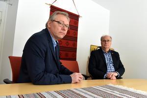 Stefan Linde, kommundirektör, och Peter Egardt, kommunalråd, berättade om budgetläget under senaste frukostmötet.