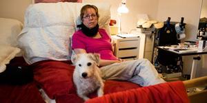 Ulrika Ivarsson, är svårt sjuk i en muskelsjukdom och blir gradvis allt sämre. Södertälje kommun anser att Ulrikas behov av assistans är fyra timmar om dagen, det betyder att hon skulle bli liggandes i sängen 20 timmar om dygnet. Med på bild Är jack russeln Rookie.