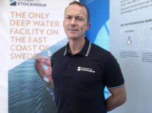 Andy Lewis är teknisk chef på Hutchison Ports i Sverige. Foto: Lena Hentschel