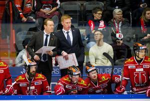 Niklas Eriksson och Jörgen Jönsson fortsätter jobba tillsammans i Örebro Hockey. Eriksson som huvudtränare och Jönsson som assisterande. Bild: Johan Bernström/Bildbyrån