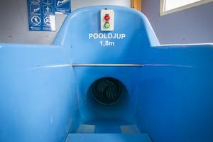 Den blå rutschkanan är till för de äldre barnen. När den tagits bort tänker Söderhamns kommun i stället satsa på mer aktiviteter för de yngre.