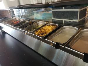 Salladsbuffén som serveras är godkänd, menar Lunchkollen.