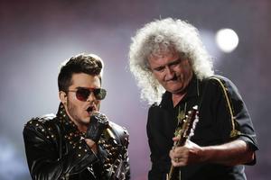 Adam Lambert och Brian May under en konsert i Rio de Janeiro i september i år.