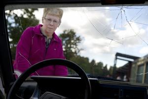 Beatriz Nyström, hade en spricka i vindrutan och ville laga den före besiktningen. Hon lämnade in bilen på Ryds  Glas och fick tillbaka bilen med fasttejpad ruta. Det gick inte att sätta fast rutan då bilen var för rostig.