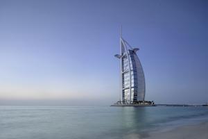 I toppen av Burj al Arab ska bröllopsparet stå.