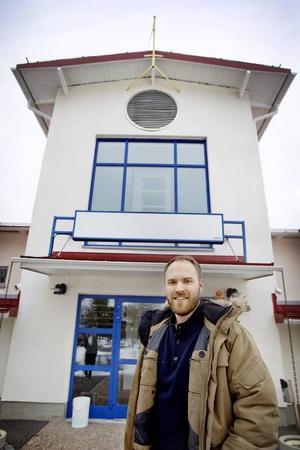 Marcus Lundberg, vd Frösö park, får snart se bygget av det nya hotellet starta.