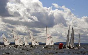 En rundning under lördagens fem race. Foto: Katarina Cham/DT