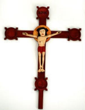 Det ovärderliga 1400-talskrucifixet är återfunnet och kan nu ersätta denna kopia som nu hänger i Skeppshamns kapell.