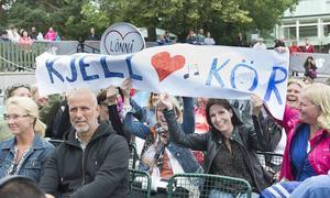 Fancluben från Sundsvall var på plats hela dagen.