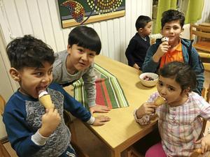 Barnen trivdes extra bra vid festen i Vågbrokyrkan.