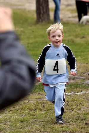William Döss från Iggesund sprang i den allra yngsta klassen.