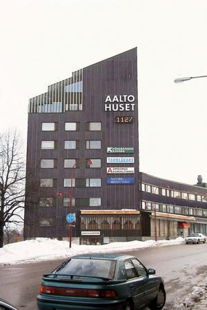 Aaltohuset. Eller blåhuset eller Sundhcenter, uppfördes 1957-1961. Nu blir huset byggnadsminnesförklarad.
