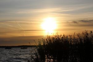 Satt på notudden och njöt av höstsolen som gick i moln o färgade hela himlen orange!