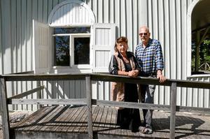 Kiosk. På ena gaveln kommer Marita Fält och Svempa Larsson att ha en kiosk. Foto: Veronica Svensson