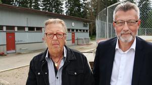 Roger Westblom och Kenneth Arvidsson vid Hedesunda Idrottsplats.