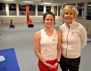 Anna-Lena Morén är instruktör i yoga och Christina Ravald är verksamhetsledare på Friskis & Svettis. De märker av ett ökande träningsintresse i Östersund.