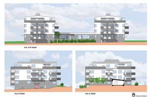 Så här är det tänkt att det nya trygghetsboendet som Östersundshem vill bygga på Stadsdel norr ska se ut.