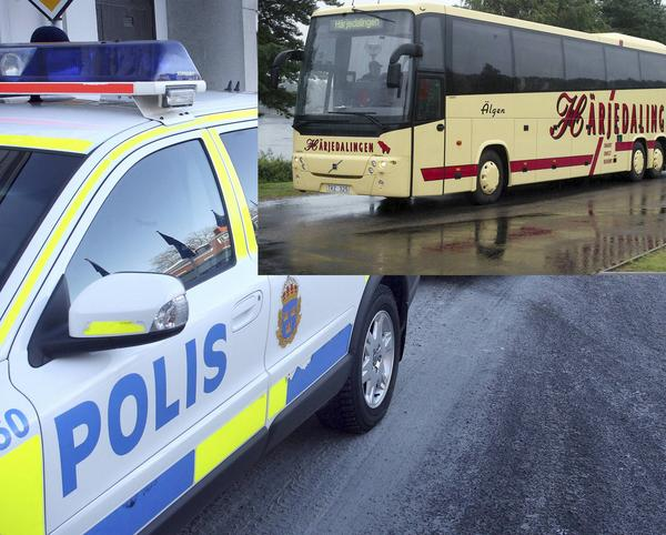 Gripandet skedde på bussen Härjedalingen i Bollnäs.