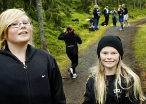 Amanda Fanquist och Natalie Amrén Eriksson är både bästisar och terränglöpare.