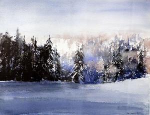 Akvarell av Ann Larsson-Dahlin.