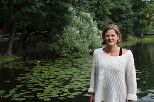 Stina Gardell vid Eriksdalsbadet i Stockholm, där hon laddat upp inför EM.