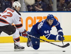 Jeremy Williams (48) i en match mot New Jersey Devils.