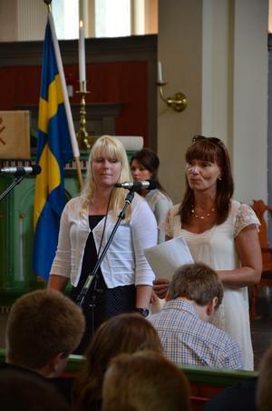 Rektorernas tal, Monica Aspemyr och Eva-Karin Olsson Källqvist.