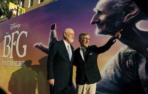 Steven Spielberg, right, director/co-producer of