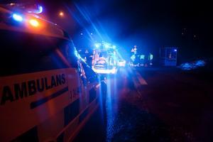 Olyckan skedde när kvinnan gick över vägen i rondellen mellan lassarettet och Preem.