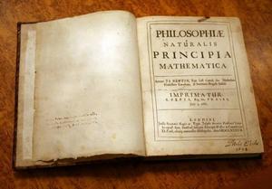 """Återbördad. Originalutgåvan av Newtons """"Principia"""" från 1687.Foto: Uppsala universitet"""